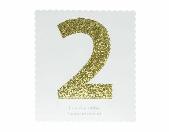 Meri Meri Number Chunky Gold Glitter Sticker - 2