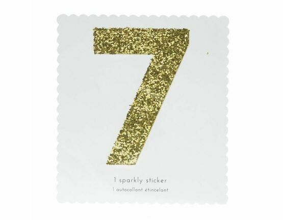 Meri Meri Number chunky Gold Glitter Sticker - 7