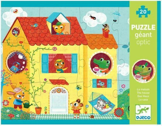 Djeco 20 Piece Giant Puzzle - The House