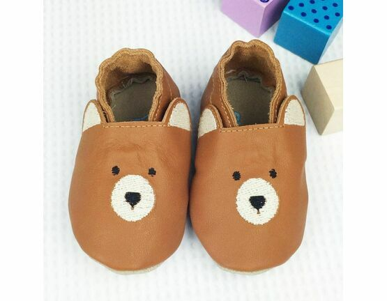 Born Bespoke Leather Baby Shoes - Bear