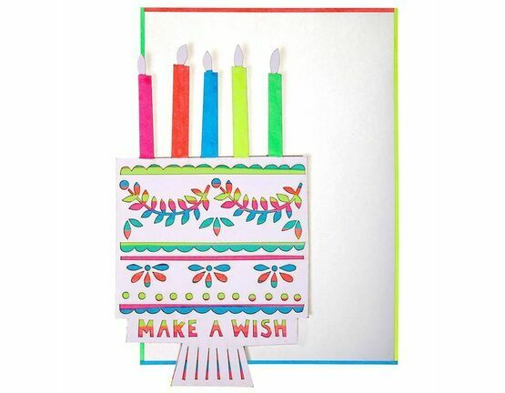 Meri Meri Make a Wish Birthday Cake Card