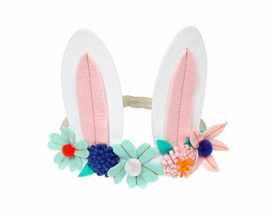 Meri Meri Bunny with Flowers Hair Band