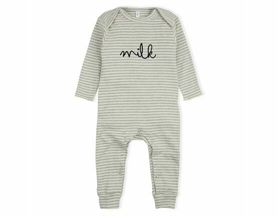 Organic Zoo Milk Playsuit / All in one - Grey Stripes