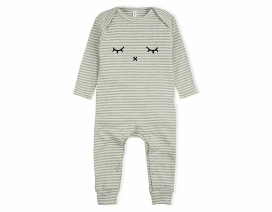 Sleepy Playsuit / All in one - Grey Stripes
