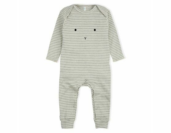 Bunny Playsuit / All in one - Grey Stripes