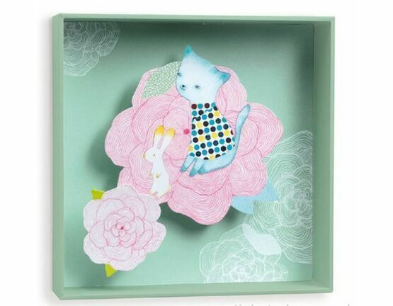Djeco Box-frame picture - Cabbage Flower
