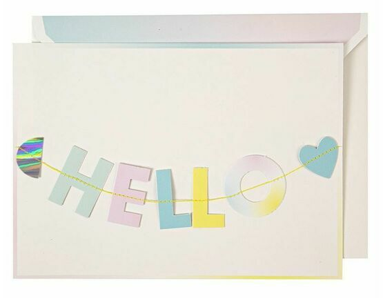 Hello Little One Garland Greeting Card Garland