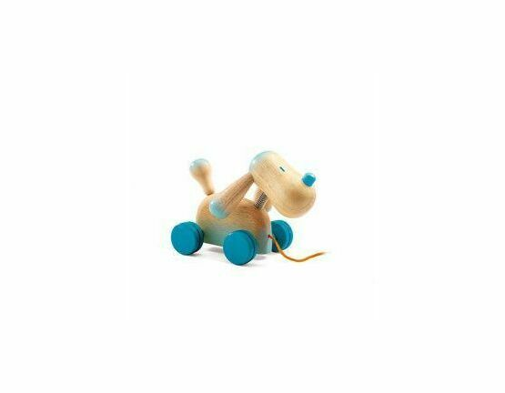 Djeco Pull Along Wooden Doggy