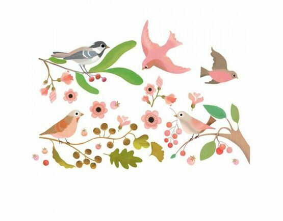 Djeco Window Stickers - Birds on the Branch