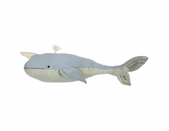 Large Knitted Narwhal Toy