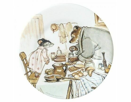 Ernest & Celestine Side Plate - Ernest Preparing Sandwiches