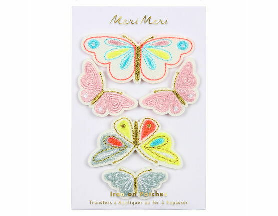 Butterflies iron-on patches