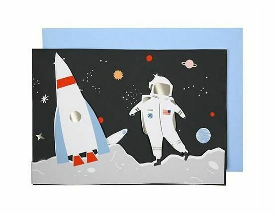 Space Concertina Greeting Card