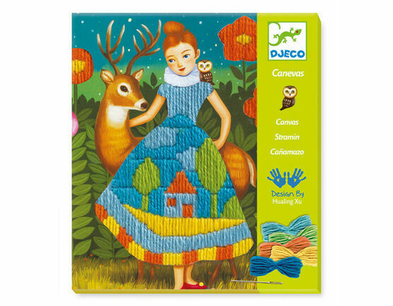 Djeco Drop Stitch Canvas Art Workshop - Dresses