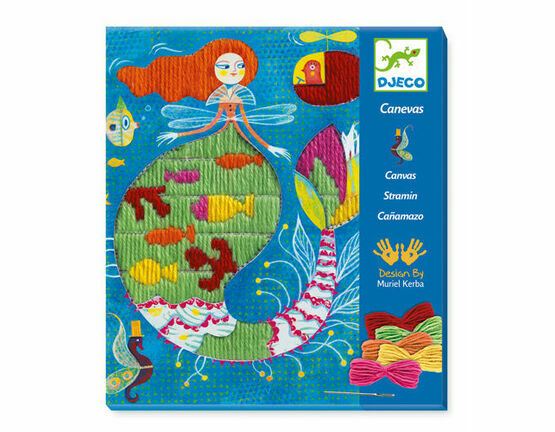 Djeco Drop Stitch Canvas Sewing Workshop - Mermaid