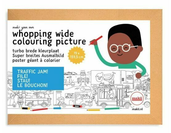 Whopping Wide Colouring Picture - Traffic Jam