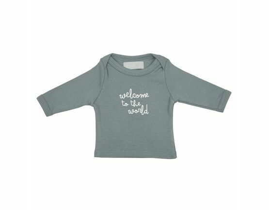 Slate Grey 'Welcome to the World' Baby T-Shirt