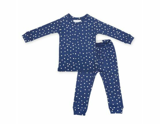 Midnight Blue & White Spot Printed Pyjamas