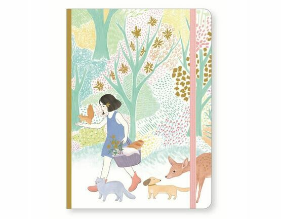 Djeco Notebook with Elastic Closure - Cyndi