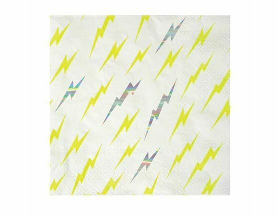 Meri Meri Super Hero Zap Small Party Paper Napkins