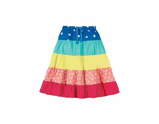 Dorothy Twirly Skirt - Rainbow Hotchpotch