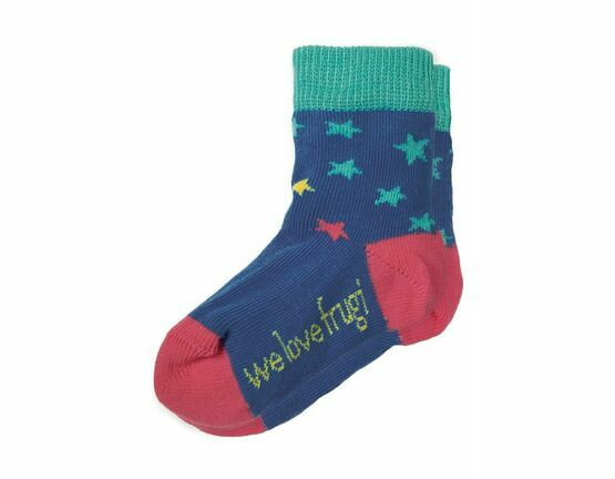 Perfect Little Pair Socks - Marine Blue Stars