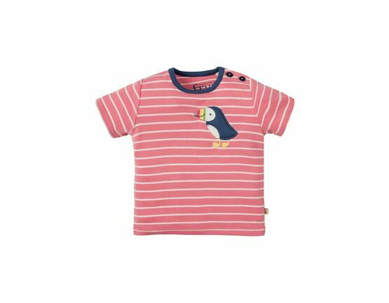 Wilbur Applique Top - Guava Breton Puffin