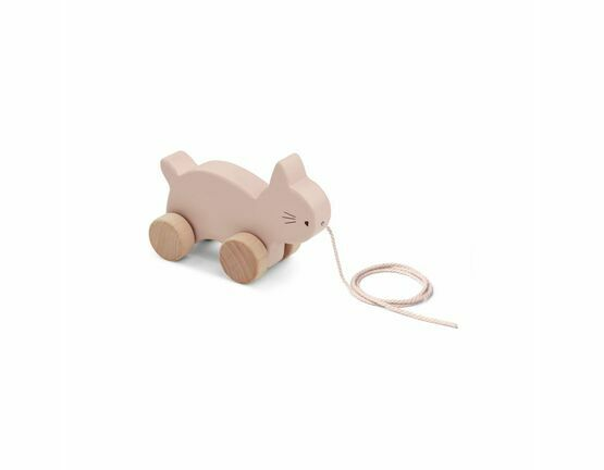 Abby Pull Along Toy - Cat Rose