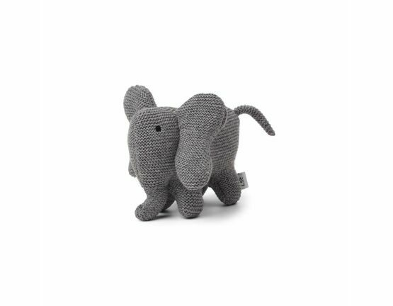 Dextor Knit Elephant Soft Toy - Grey Melange