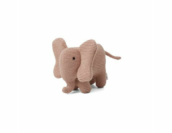 Dextor Knit Elephant Soft Toy - Rose