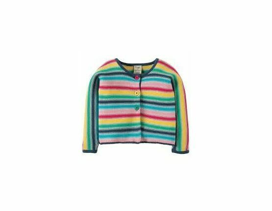 Ceira Cotton Cardigan - Multi Stripe