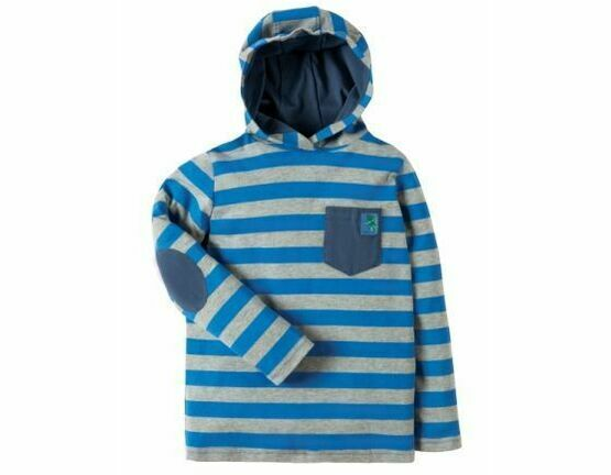 Campfire Hooded Top - Blue Bold Stripe