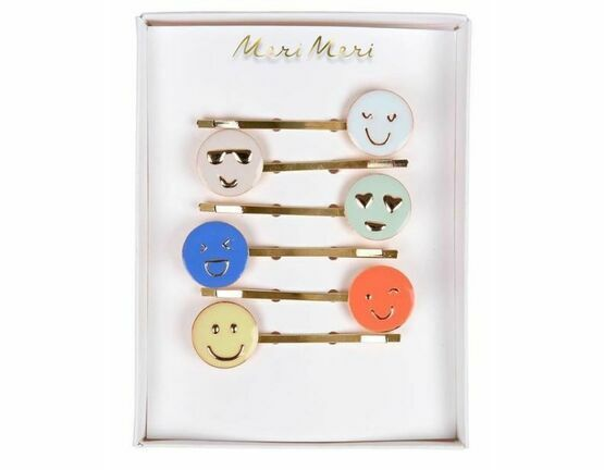 Emoji Enamel Hair Slides