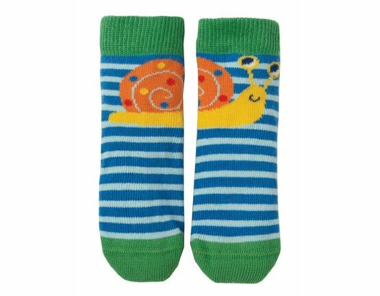 Perfect Little Pair Socks - Sail Blue Stripe / Snail