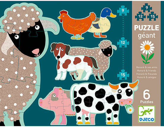 Djeco Giant Jigsaw Puzzles - Honore & Friends
