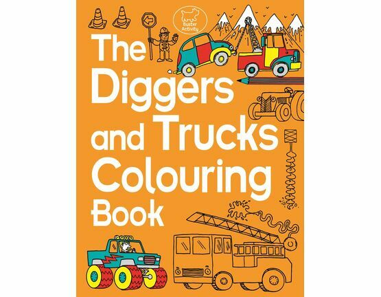 Diggers and Trucks Colouring Book only £5.21