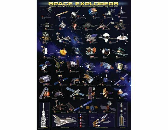 Space Explorers 1000 Piece Puzzle