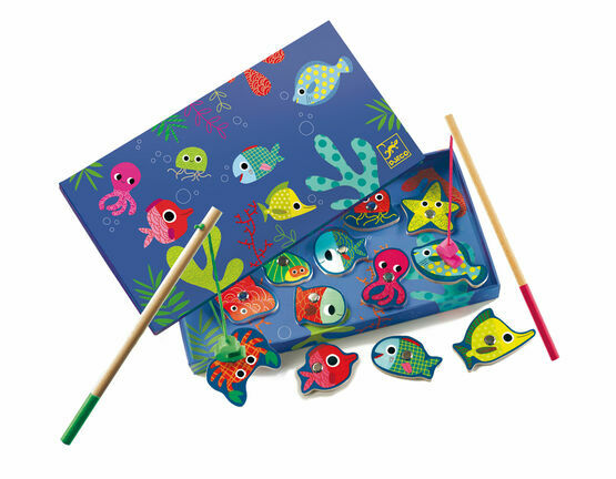 Djeco Magnetic Game - Colourful Fishing