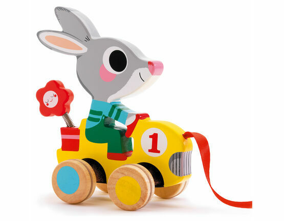 Djeco Pull Along Toy - Roulapic Rabbit