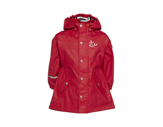 CeLaVi Rainwear Cotton Lined Jacket - Red