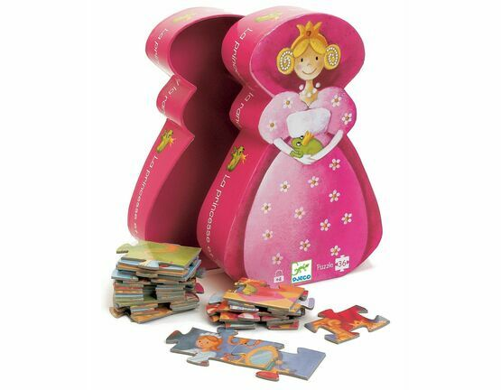 Djeco Silhouette 36 Piece Jigsaw Puzzle - The Princess and the Frog