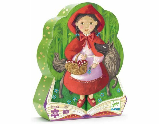 Djeco Silhouette 36 Piece Jigsaw Puzzle - Little Red Riding Hood