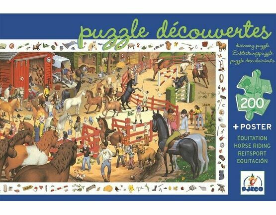 Djeco Observation 200 piece Jigsaw Puzzle - Horse-riding