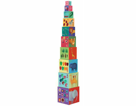 Djeco Nature and Animal Stacking Cubes