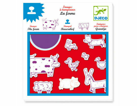 Djeco Stamp & Ink Set - Farm