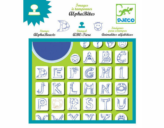 Djeco Stamp & Ink Set - AlphaBeasts