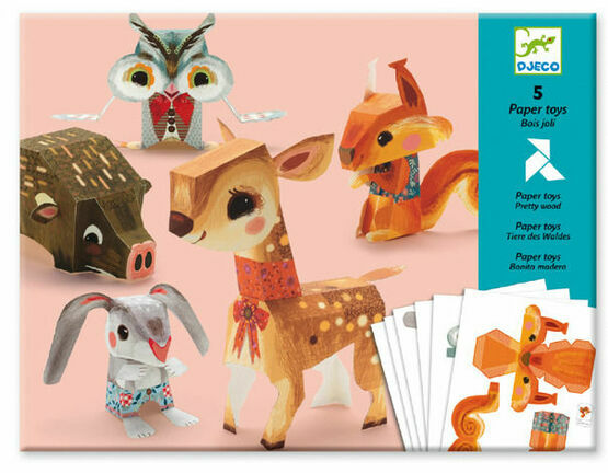 Djeco 3D Paper Models to Make - Pretty Woodland Creatures