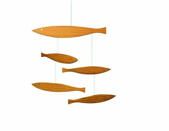 Flensted Mobiles Wooden Fish Mobile