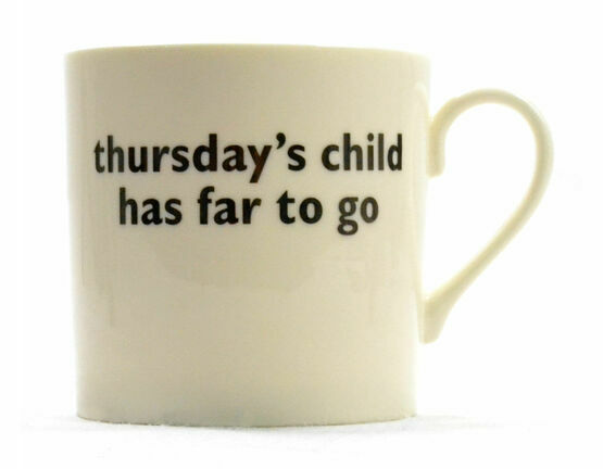 big tomato company Thursday's Child Mug