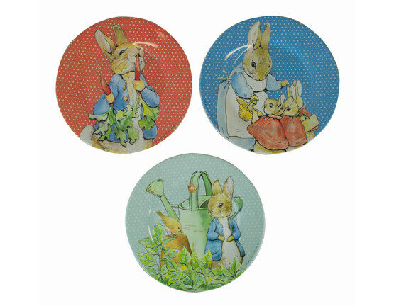 Petit Jour Paris Peter Rabbit Side Plates - Set Of 3